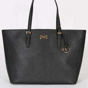 Large Michael Kors Black Leather Bag